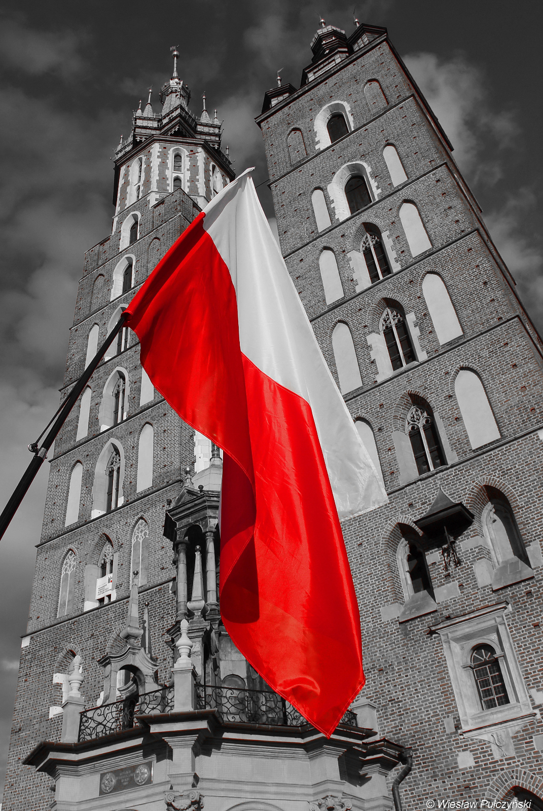 Kraków street photo... 2 maja Dzień Flagi Polskiej