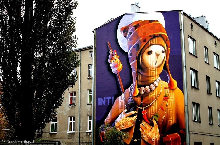 Mural Przy Ulicy Strzelcow Kaniowskich Lodz Fotoblog Baedeker Flog Pl