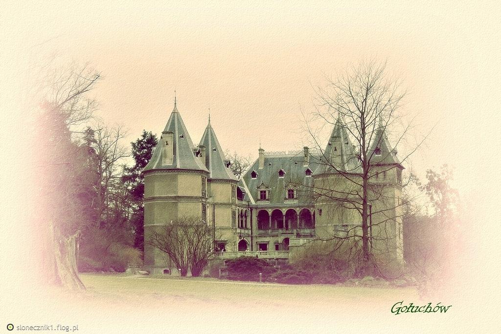 pocztówki z Gołuchowa ... zamek i oficyna
