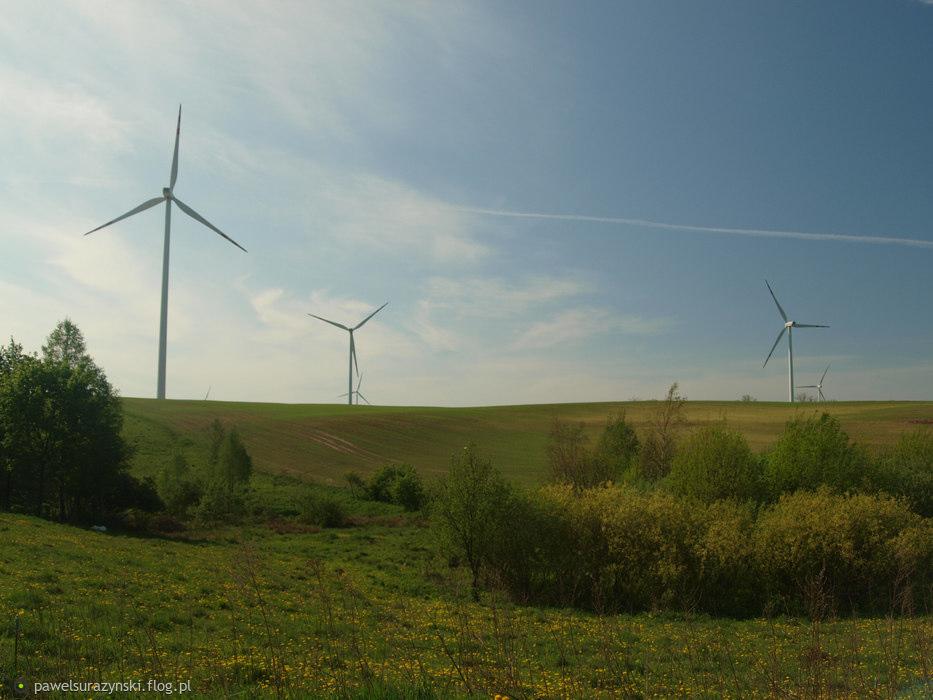 kilka elektrowni wiatrowych