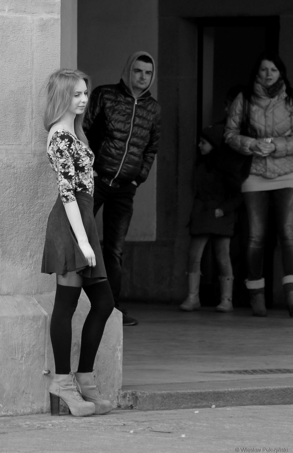 Kraków street photo...być modelką