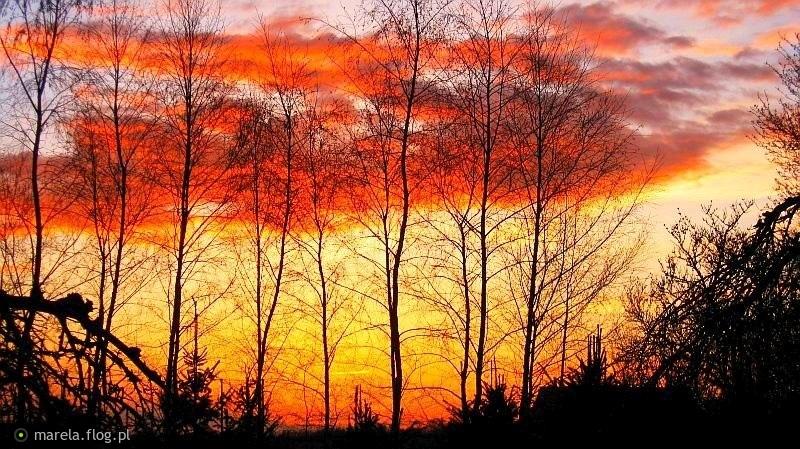 Zachód słońca po burzy...