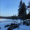 Jezioro  w lutym 2015