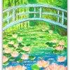 W Ogrodzie Pana Moneta :: Inspirowany mostkiem ze s<br />łynnego obrazu Pana Monet<br />a obrazek na płótnie 16x2<br />1,5 cm z ramką 26x32c